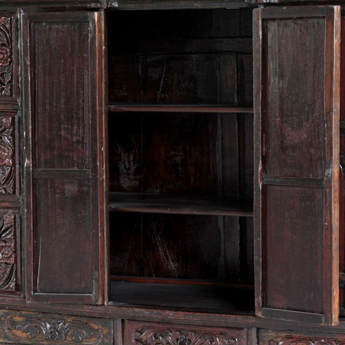 Carved Chinese Temple Cabinet