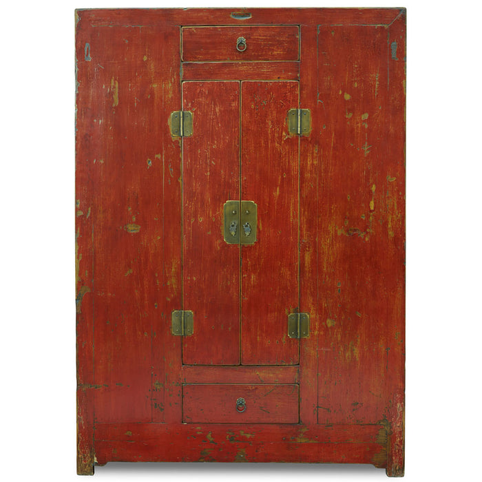 Qinghai Red Lacquer Cabinet