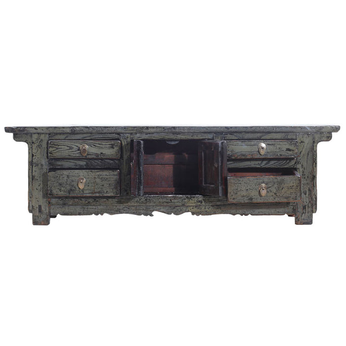 Low Grey Lacquer Sideboard