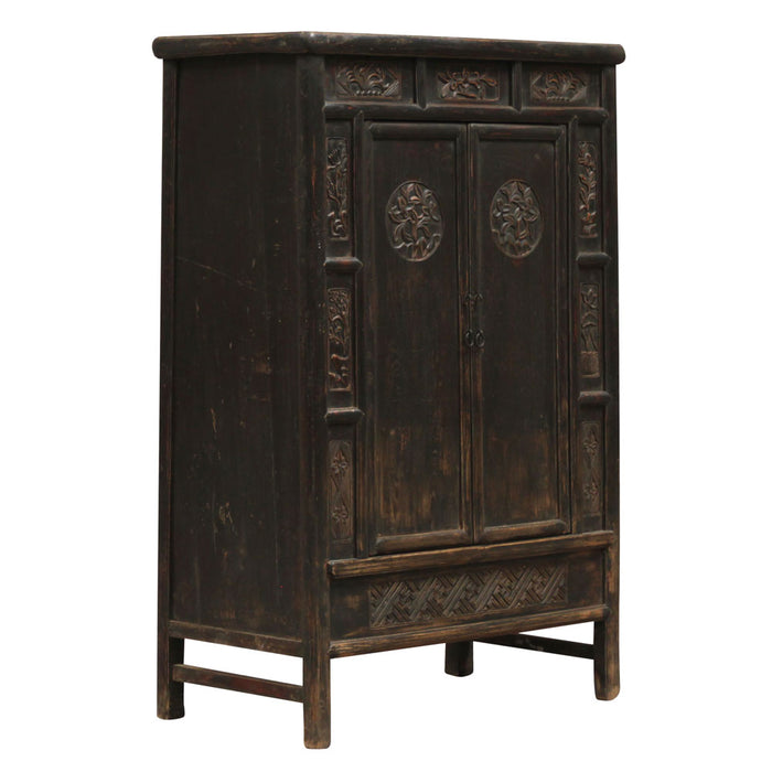 Tall Cabinet with Carved Doors
