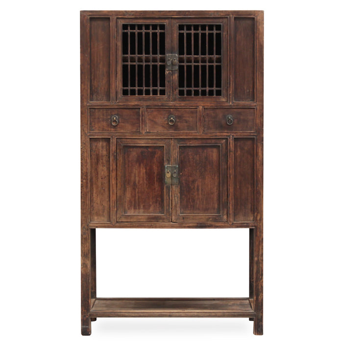 Chinese Cabinet with Lattice Doors