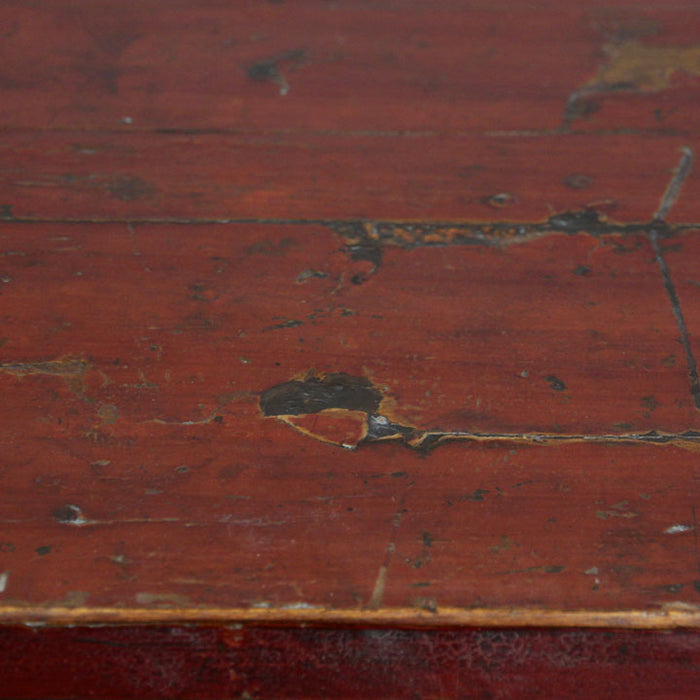 Red Lacquer Painted Sideboard
