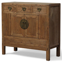 Square Elm Cabinet, Antique Chinese