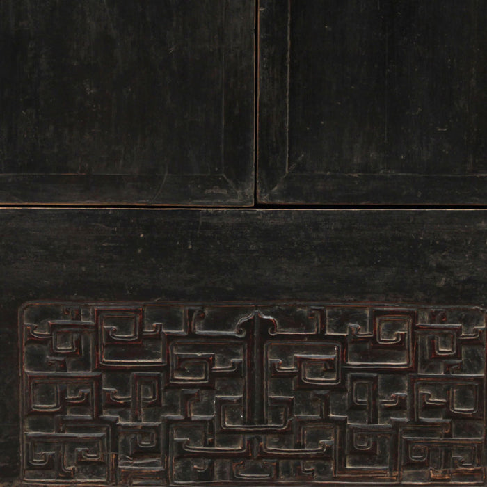 Black Lacquer Chinese Cabinet
