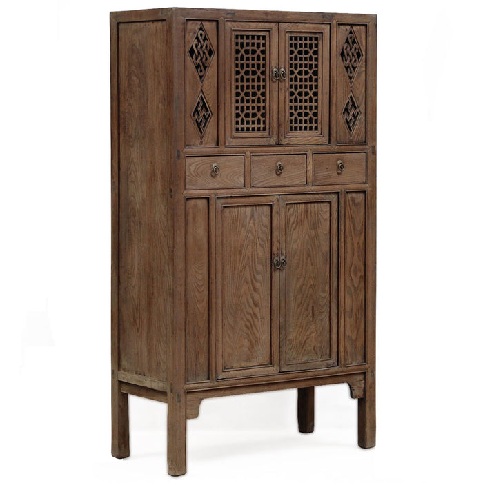Oriental Lattice Door Cabinet