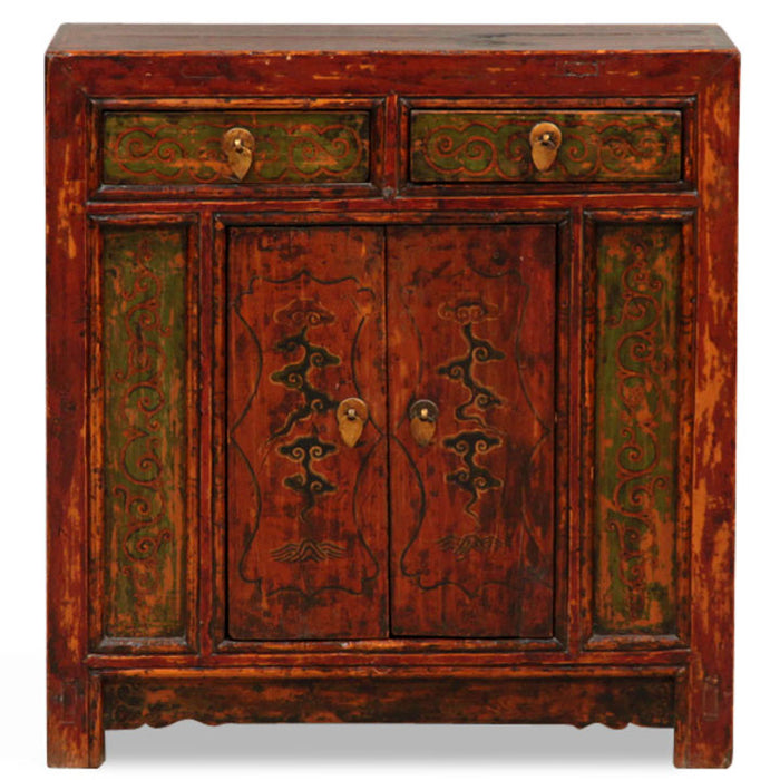 Decorated Mongolian Cabinet
