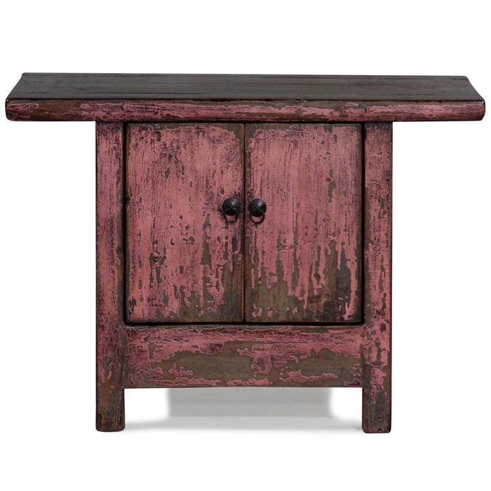 Pink Lacquer Side Cabinet
