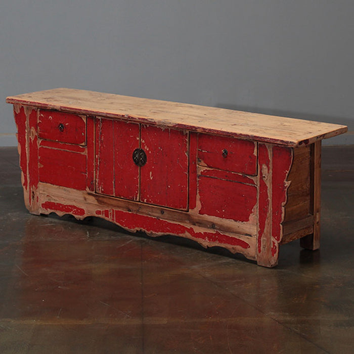Low Red Lacquer Chest