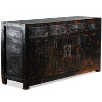 Black Painted Antique Chinese Sideboard