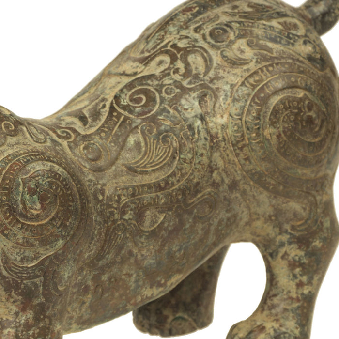 Bronze Lion Candle Holder