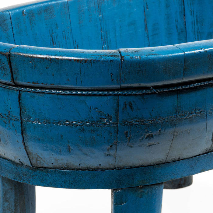 Blue Lacquer Wooden Basin