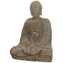 Antique Wood Carved Buddha