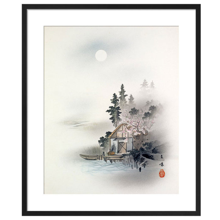 Chinese Painting Fishermans Hut