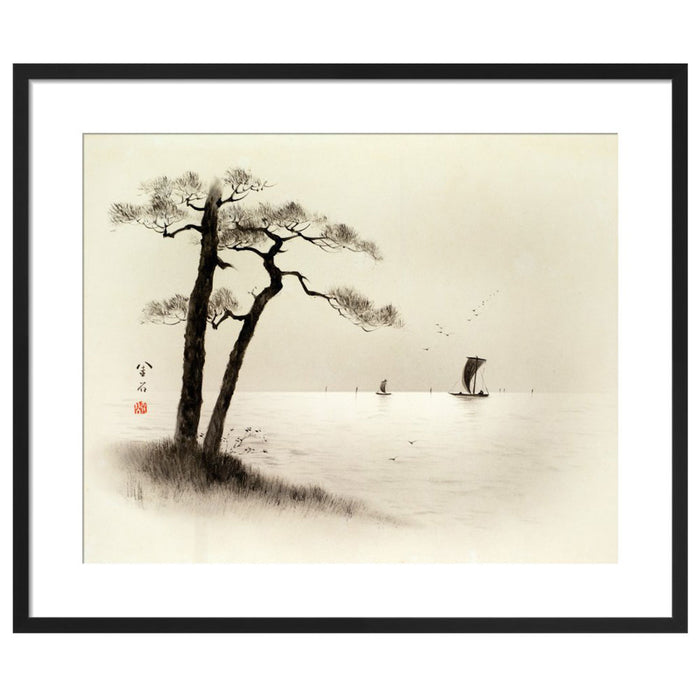 Chinese Painting Pine Trees