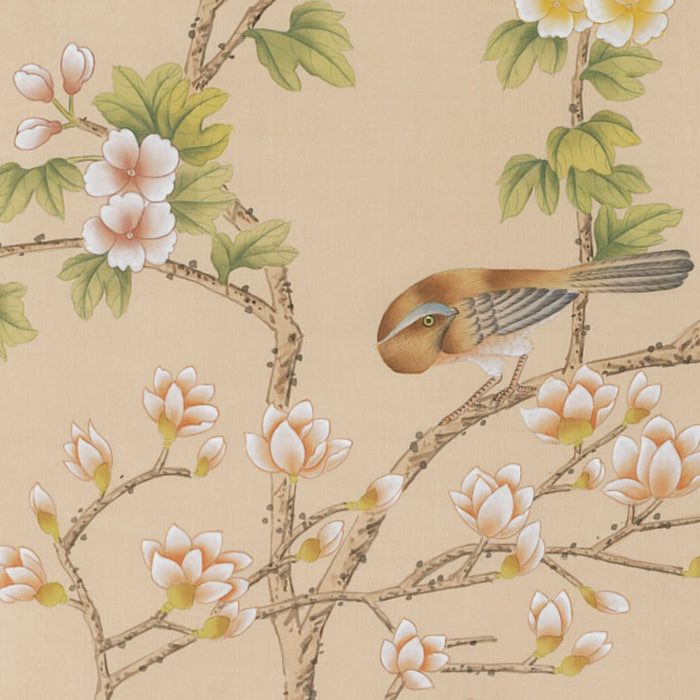 Hand Painted Silk Panel - Blossom