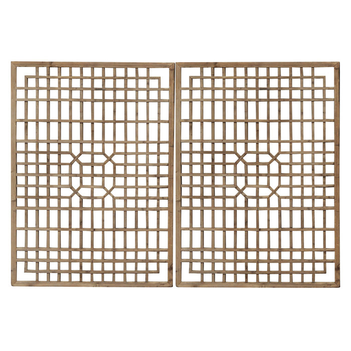 Pair of Lattice Wall Panels