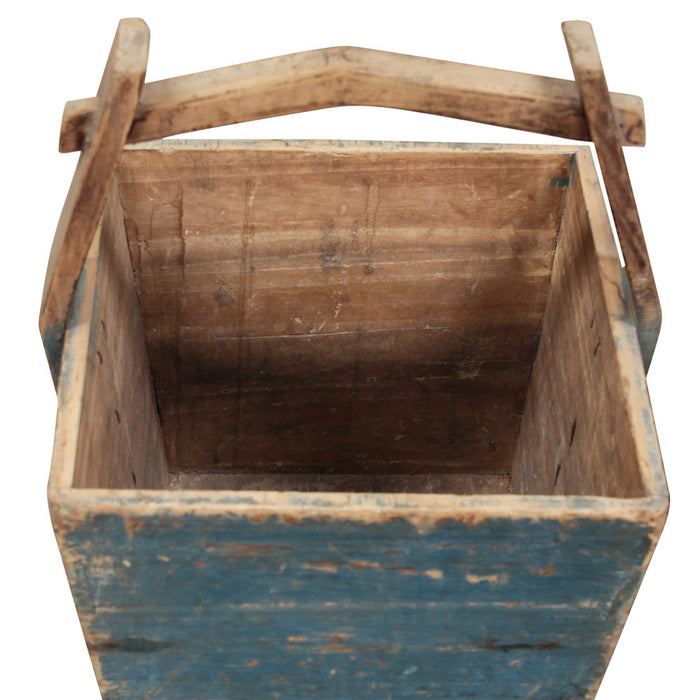 Blue Wooden Chinese Bucket