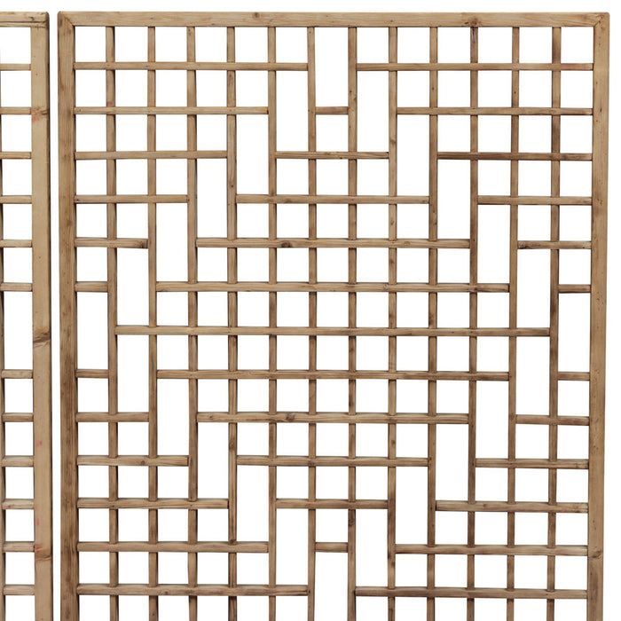 Lattice Wall Panels with Diamond Pattern