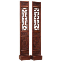 Pair of Narrow Carved Panels