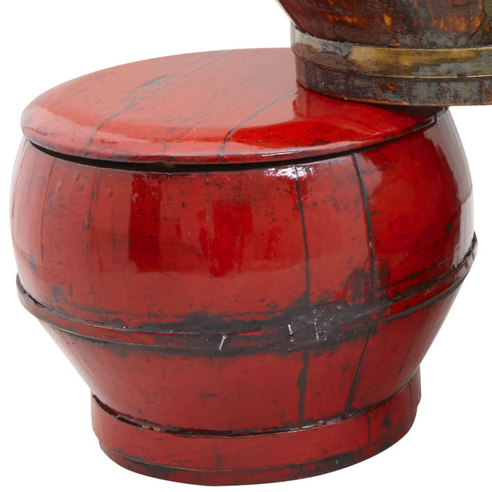 Red Lacquer Rice Box
