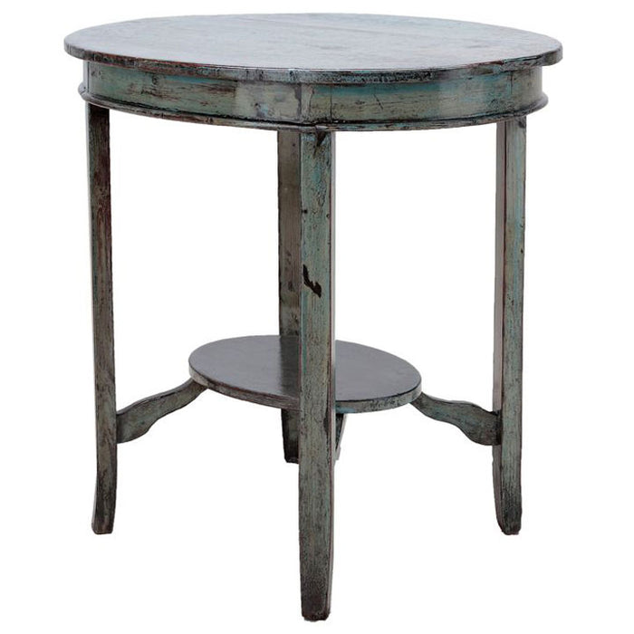 Oval Blue Side Table