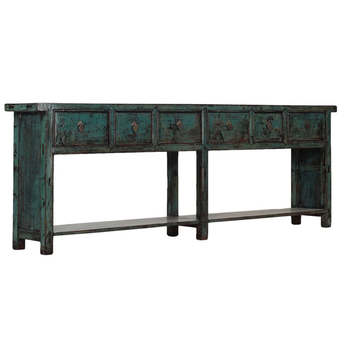 Chinese Console with Six Drawers
