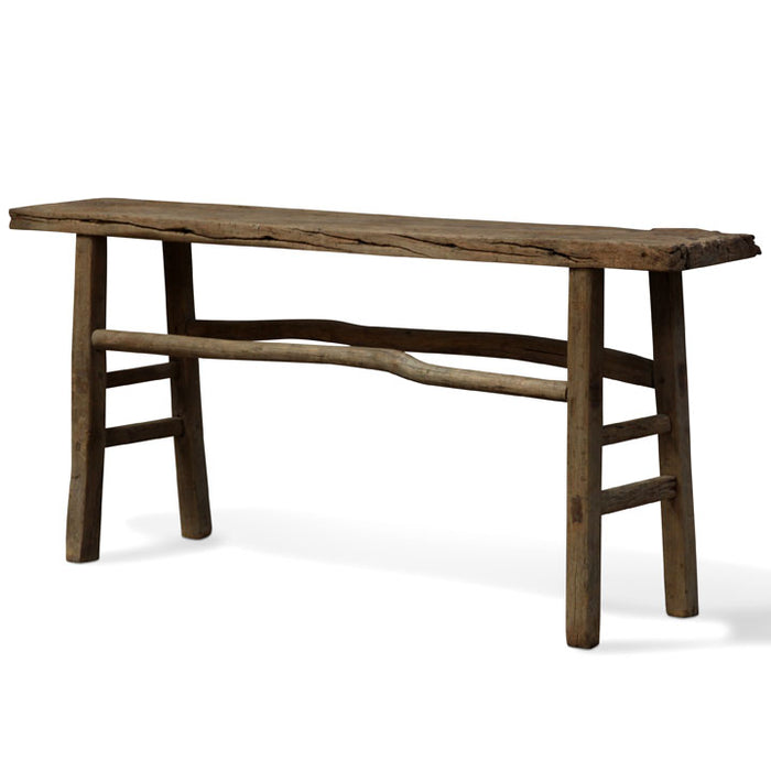 Plank Top Elm Console