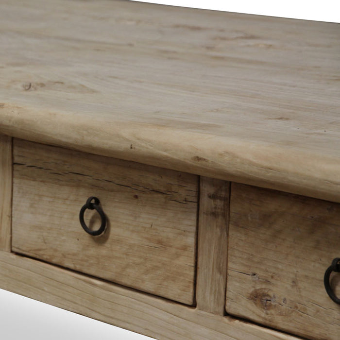 Rustic Coffee Table with Eight Drawers