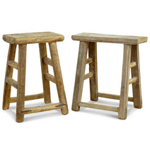 Flat Top Wooden Chinese Stool