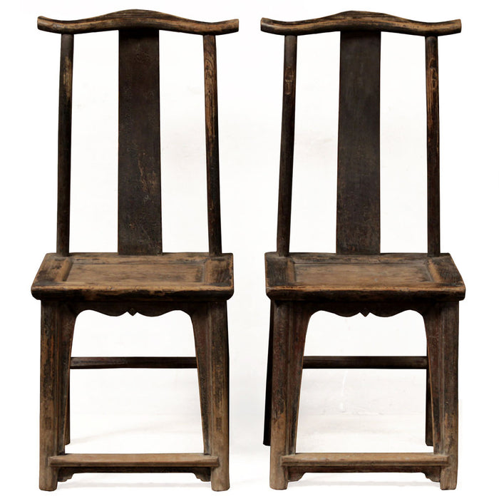 Pair of Elm Yoke Back Side Chairs