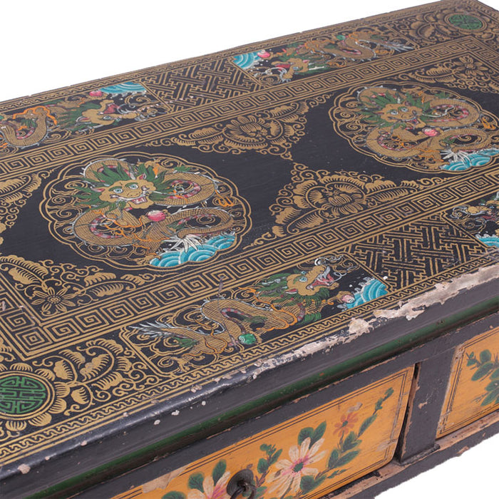 Painted Two Drawer Gansu Table