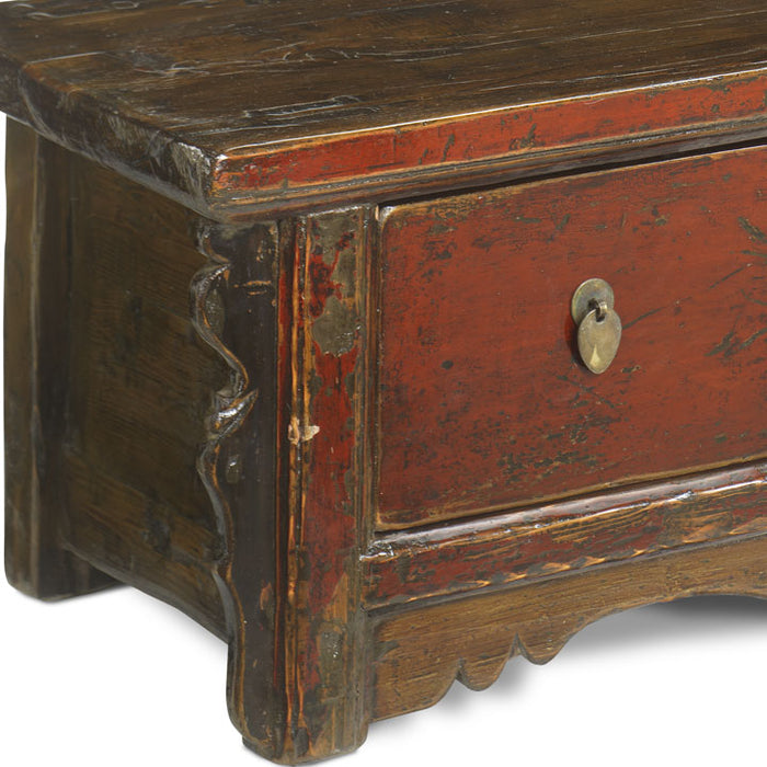 Four Drawer Red Lacquer Coffer