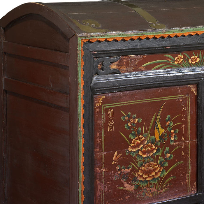 Antique Mongolian Painted Trunk