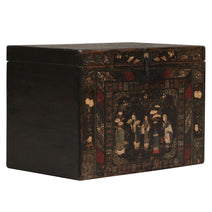 Black Painted Chinese Opera Chest