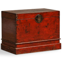 Red Lacquer Qinghai Blanket Chest