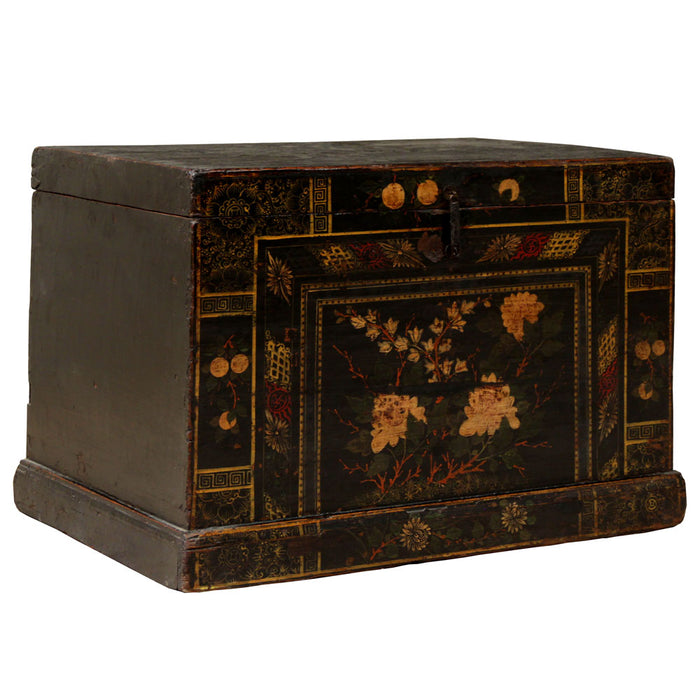 Black Lacquer Painted Chest
