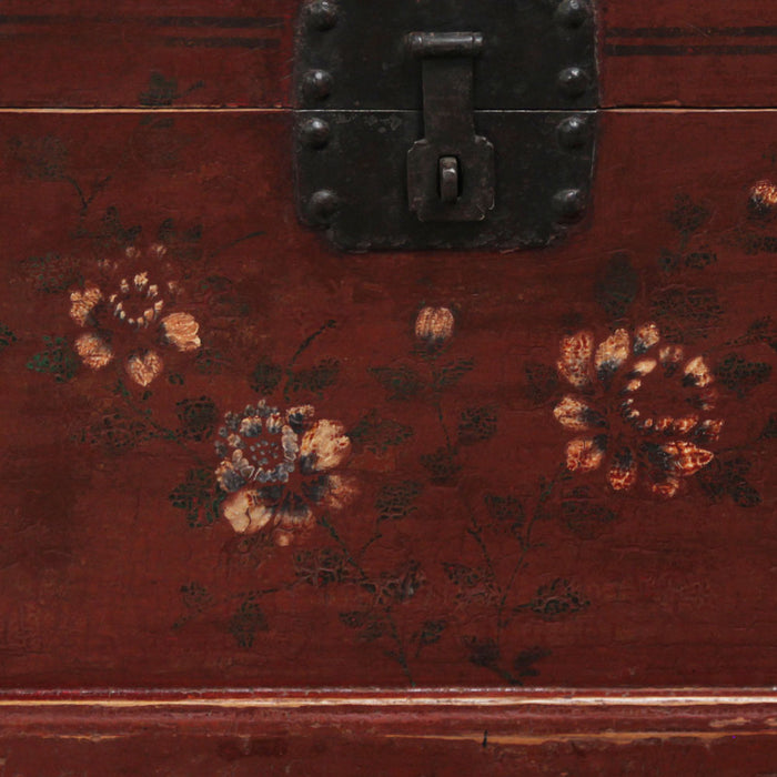 Small Painted Chinese Antique Trunk