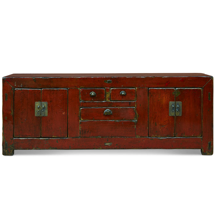 Red Lacquer Low Sideboard