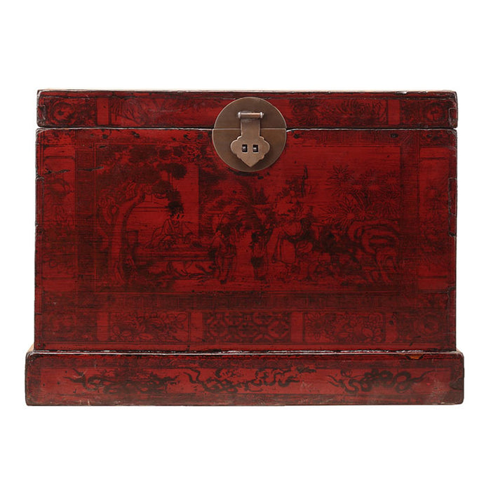 Red Lacquer Painted Trunk, Chinese