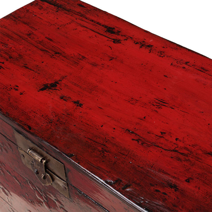 Chinese Trunk in Red Lacquer