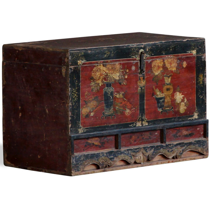 Painted Qinghai Blanket Trunk