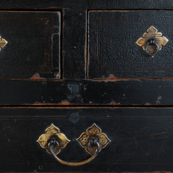 Painted Three Drawer Coffer