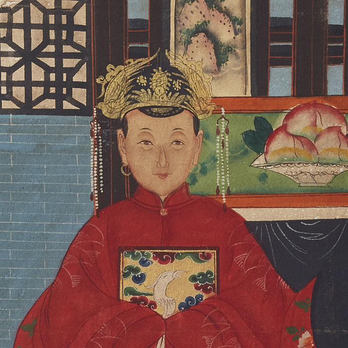 Chinese Ancestor Painting, Couple
