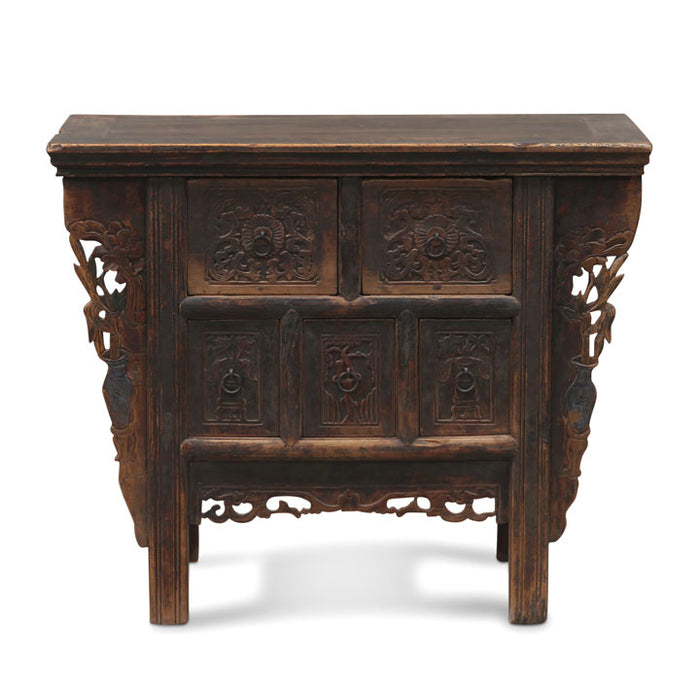 Carved Shanxi Elm Coffer