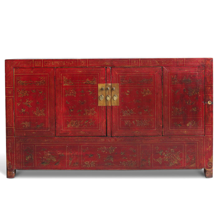 Dongbei Painted Antique Sideboard
