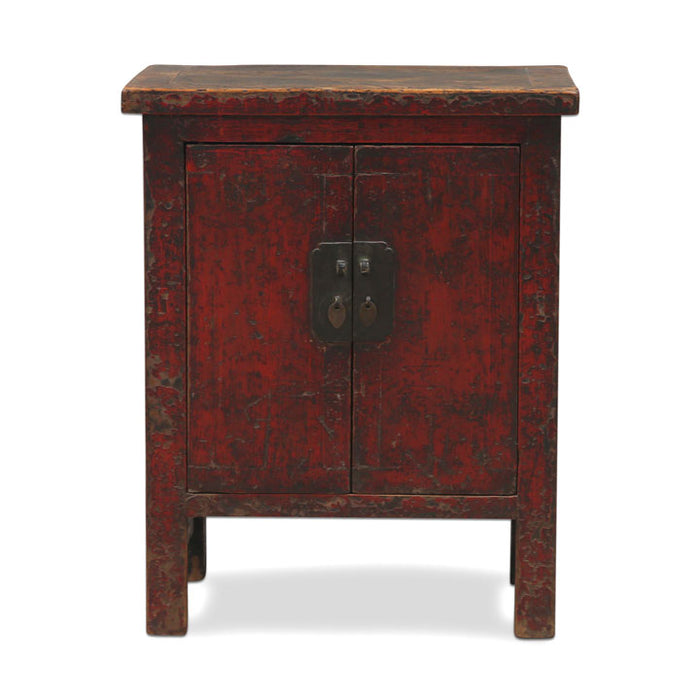 Red Lacquer Shanxi Side Cabinet