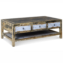 Coffee Table, Blue and Black