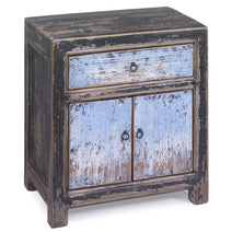 Bedside Cabinet, Blue and Black