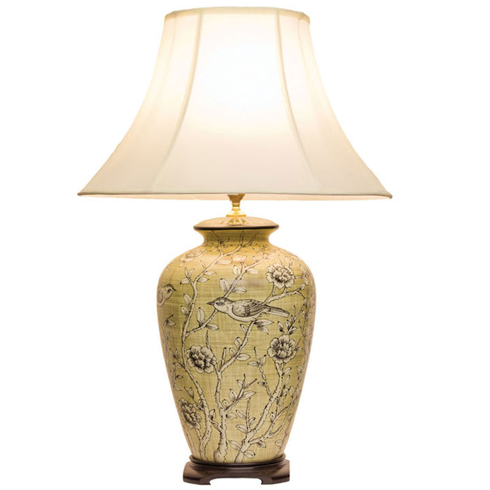 Birds and Flowers Lamp