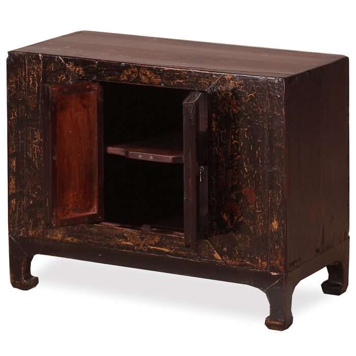 Black Lacquer Chest on Stand
